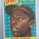 1958 Topps Hank Aaron All Star Atlanta Braves # 488
