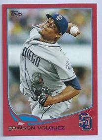 2013 Topps Baseball Target Red Edinson Volquez San Diego Padres # 137 Insert