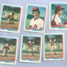 Lot Of 6 Different 1985 Fleer Star Stickers Mike Schmidt Philidelphia Phillies Oddball