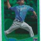 2013 Topps Baseball Green Foil Aaron Crow Kansas City Royals # 243