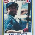 1991 Post Cereal Kirby Puckett Minnesota Twins # 28 of 30 Oddball