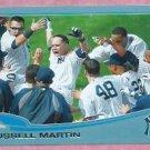 2013 Topps Baseball Wal Mart Blue Russell Martin New York Yankees # 282