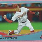 2013 Topps Baseball Wal Mart Blue Brad Ziegler Arizona Diamondbacks # 169