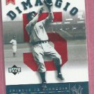 2002 Upper Deck Joe Dimaggio Tribute New York Yankees # JD107