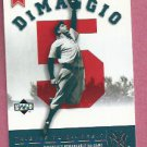 2002 Upper Deck Tribute To Joe Dimaggio New York Yankees # JD106