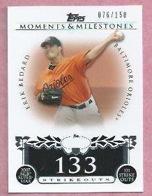 2008 Topps Moments & Milestones Erik Bedard Baltimore Orioles # 95    76/150