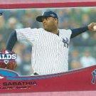 2013 Topps Baseball Target Red CC Sabathia New York Yankees # 283 ALDS