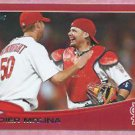 2013 Topps Target Red Yadier Molina St Louis Cardinals # 4