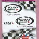 2011 ARCA Toledo Flatrock Speedway Pocket Racing Schedules