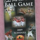 2009 Nashville Sounds Pocket Schedule