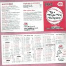 1984 Cincinnati Reds Marathon Pocket Schedule Unfolded