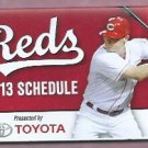 2013 Cincinnati Reds Pocket Schedule Toyota