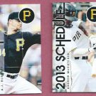 Pair 2013 Pittsburgh Pirates Pocket Schedules AJ Burnett Andrew McCutchen