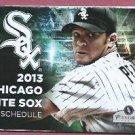 2013 Chicago White Sox Pocket Schedule Jake Peavy