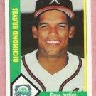 1990 CMC Dave  Justice International League Baseball Card Richmond / Atlanta Braves # 9 Rookie