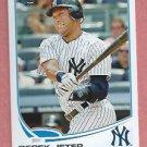 2013 Topps Baseball Series 2 Derek Jeter Checklist New York Yankees # 373