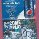 2013 Kansas City Royals Pocket Schedule Pepsi