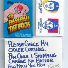 Unopened Pack 1986 Topps Baseball Tattoos