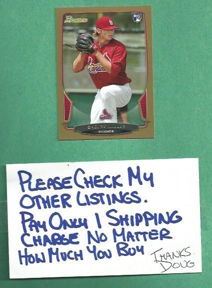 2013 Bowman Gold Shelby Miller St Louis Cardinals #126