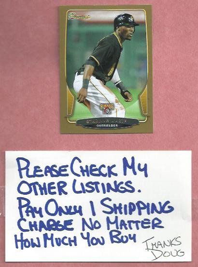 2013 Bowman Gold Starling Marte Pittsburgh Pirates # 61