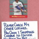 1989 Fleer For The Record Kirk Gibson Dodgers Tigers Diamondbacks # 4