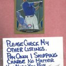 2013 Bowman Gold Nelson Cruz Texas Rangers # 58