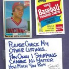 1982 Topps Coke Wayne Krenchicki Cincinnati Reds Oddball # 12