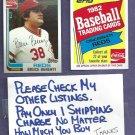 1982 Topps Coke Bruce Berenyi Cincinnati Reds Oddball # 2