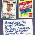 1982 Topps Coke Mike O Berry Cincinnati Reds Oddball # 15