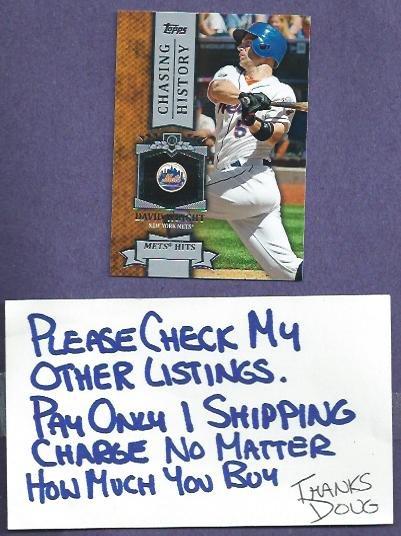 2013 Topps Chasing History David Wright New York Mets # CH-24