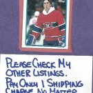 1989 90 Topps Patrick Roy Canadiens # 116
