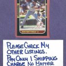 1987 Leaf Don Mattingly New York Yankees Dodgers # 150