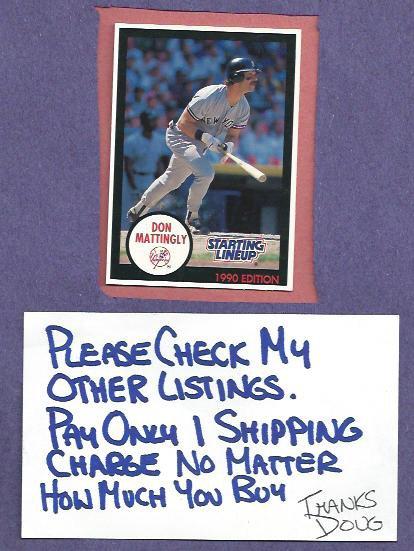 1990 Starting Line Up Don Mattingly New York Yankees Oddball