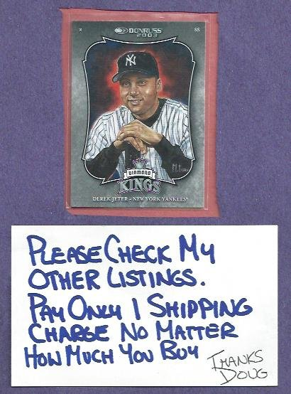 2003 Donruss Diamond Kings Derek Jeter New York Yankees # 2