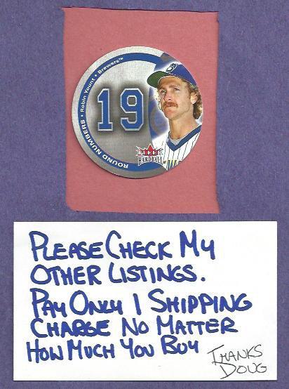 2003 Fleer Hardball Round Numbers Robin Yount Milwaukee Brewers # 14RN #D /1000