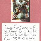 1992 Wild Card Earnest Byner Washington Redskins PROMO # P14