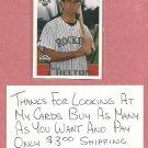1996 Topps Todd Helton Colorado Rockies Draft Pick Rookie # 13