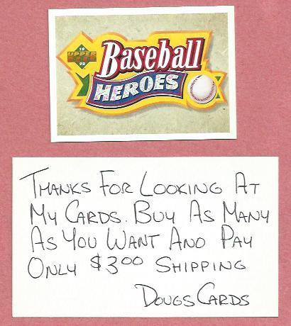 1992 Upper Deck Baseball Heroes Ted Williams Header Card