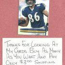 2003 Fleer Ultra Todd Heap Baltimore Ravens # 14