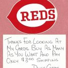 Vintage Cincinnati Reds Sticker