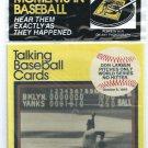 1989 CMC Talking Baseball Cards Don Larsen 1956 World Series Perfect Game Dodgers # 7