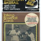 1989 CMC Talking Baseball Cards Carlton Fisk 1975 World Series Home Run Boston Red Sox