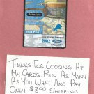 2002 Detroit Lions Pocket Schedule Inaugural Season Ford Field Mikes Hard Lemonade