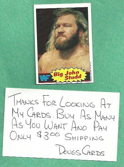 1985 Topps WWF Wrestling Card Big John Studd # 12 WWE