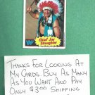 1985 Topps WWF Wrestling Card Chief Jay Strongbow WWE # 20