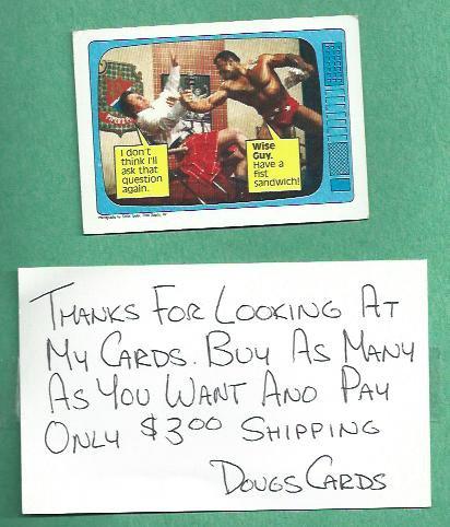 1985 Topps WWF Wrestling Card Roddy Piper Rocky Johnson # 59 WWE