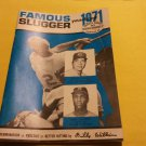 1971 Louisville Slugger Famous Slugger Yearbook Johnny Bench Alex Johnson