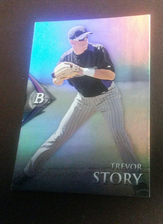 2014 Bowman Platinum Trevor Story Colorado Rockies Rookie # BPP83