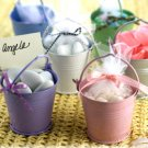 Beach Theme Wedding Favor Pink Beach Buckets Set of 12