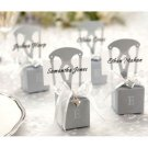 Set 12 Miniature Chair w/Heart Charm Place Card Holder